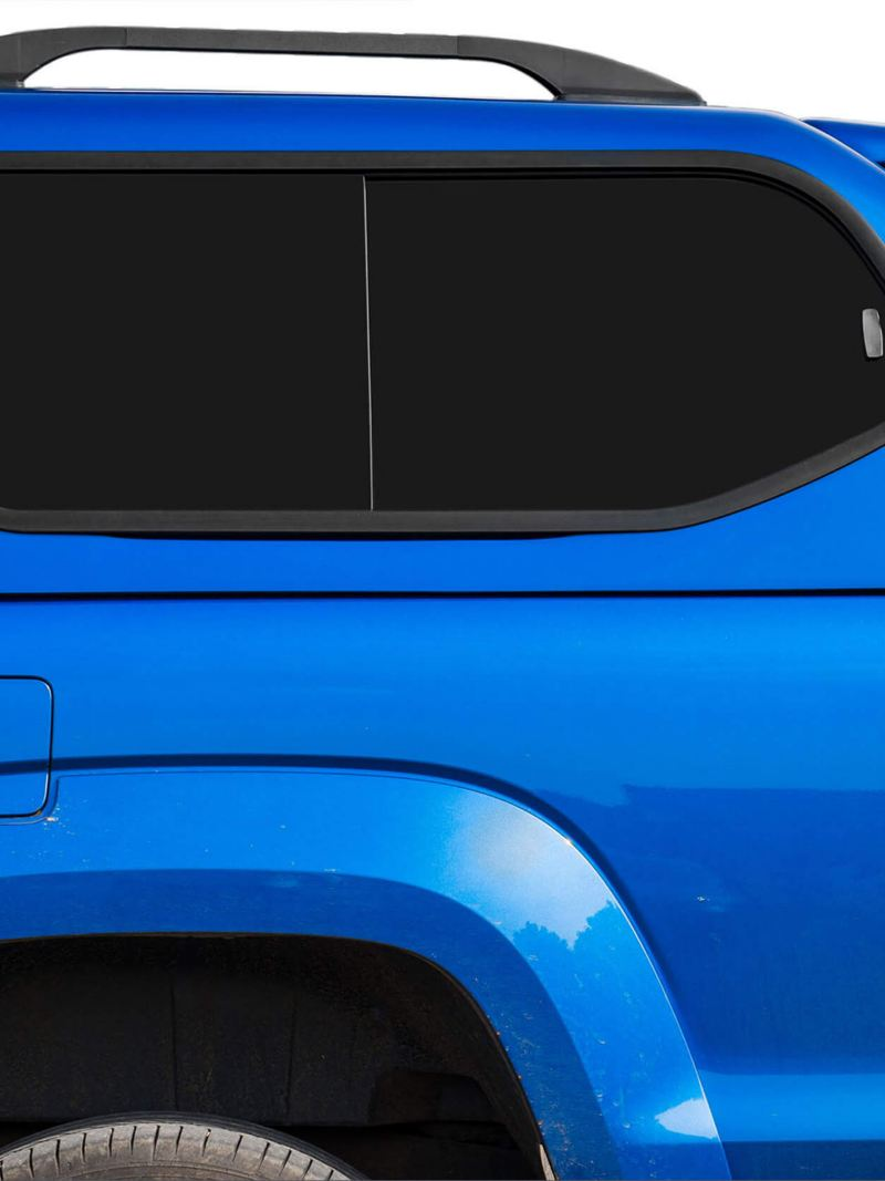 Blue Truckman GLS with tinted window on Amarok van
