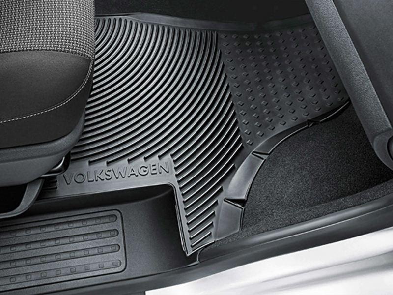 Heavy-duty rubber floor mats