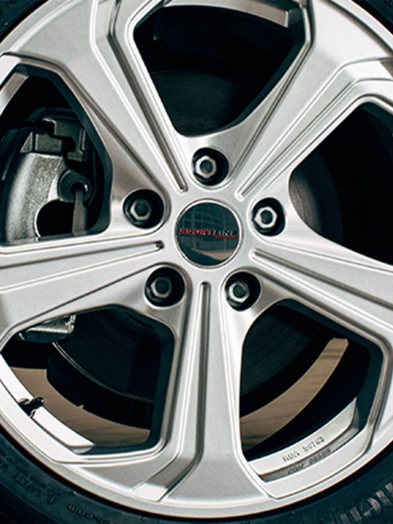 """18"""" Sportline silver alloy wheel"""
