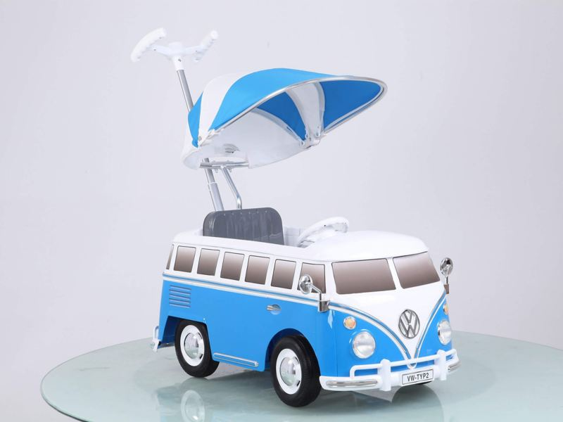 Blue Volkwagen T1 Bus toy