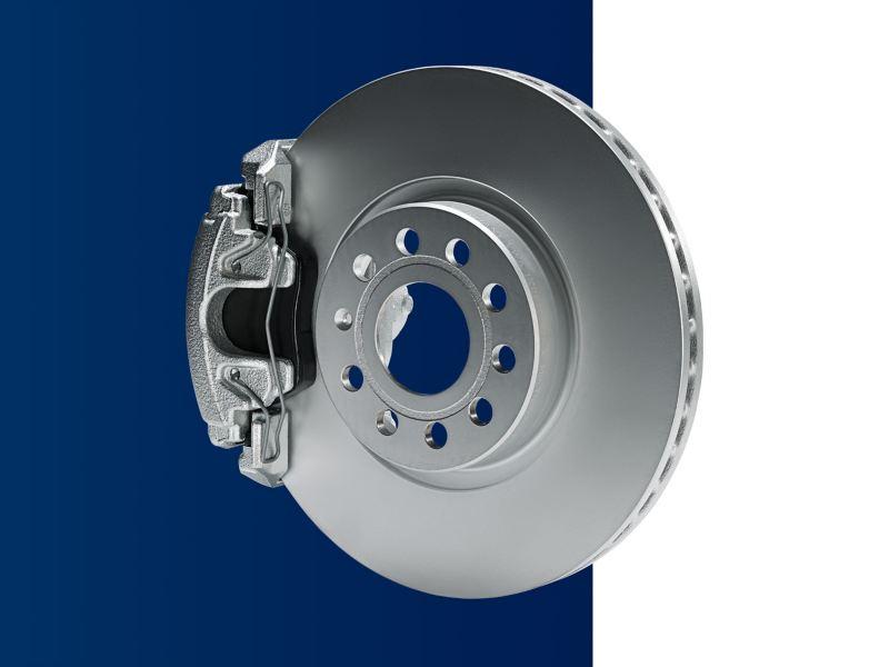 Genuine Volkswagen brake pads and discs