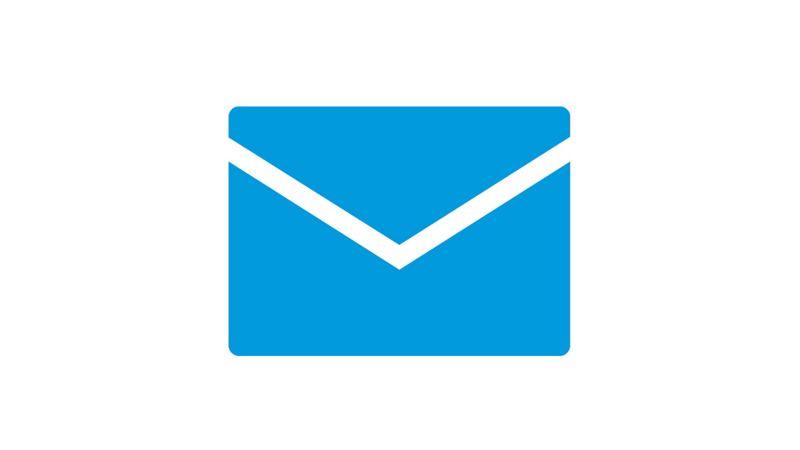 Blue envelope icon
