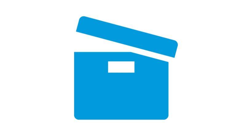 Blue icon storage box