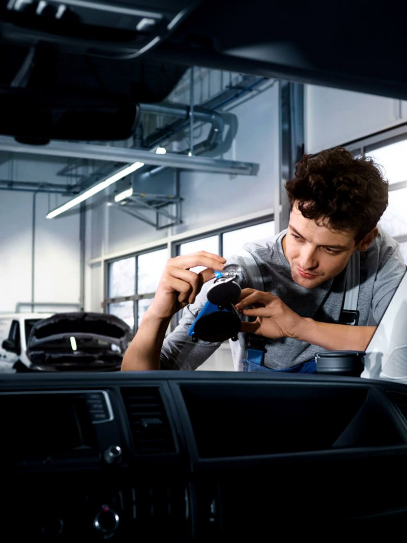 technician working on a vehicle
