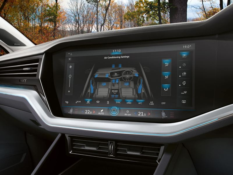 Dashboard image of air conditioning system