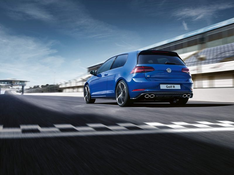 Golf R driving on the road
