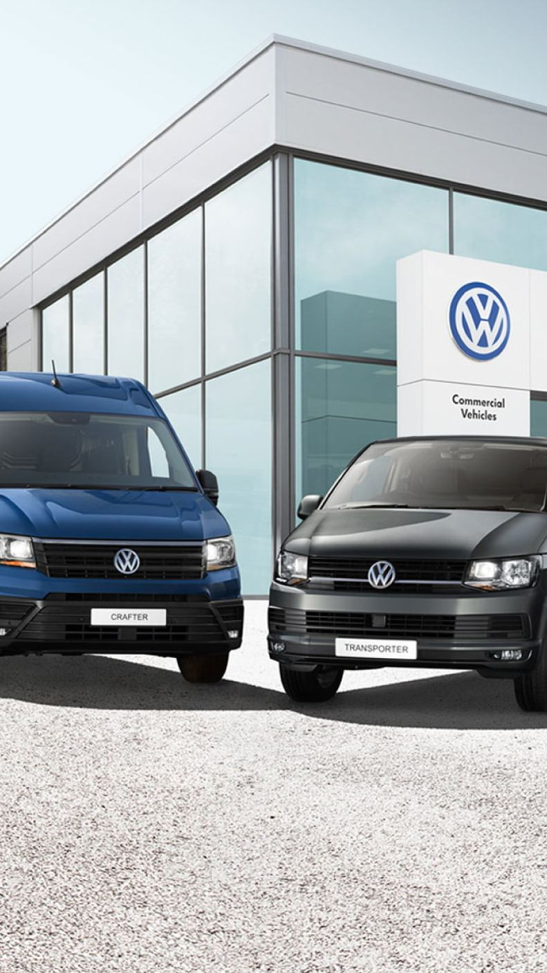 Volkswagen range outside Van Centre