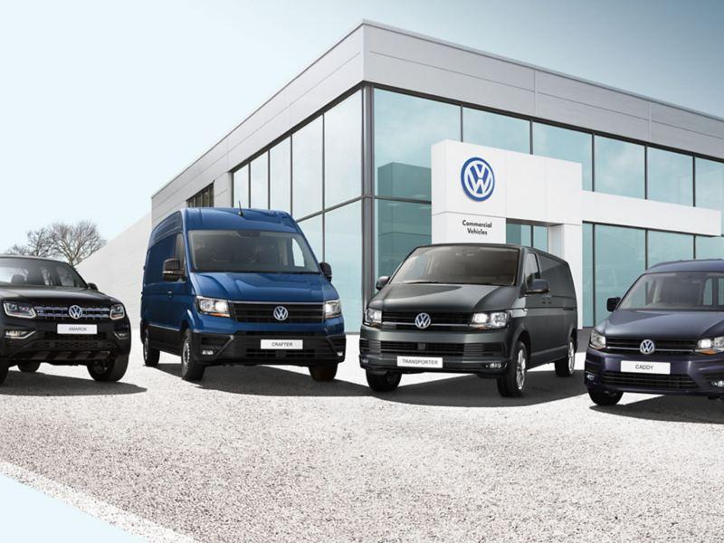 4 vans outside a van centre