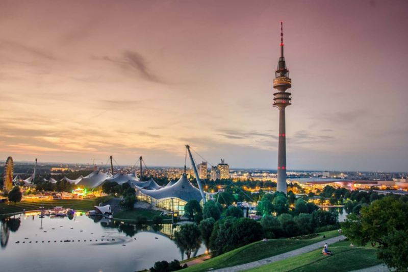 Park Olimpijski w Monachium