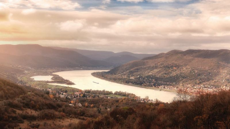 Panorama przełomu Dunaju