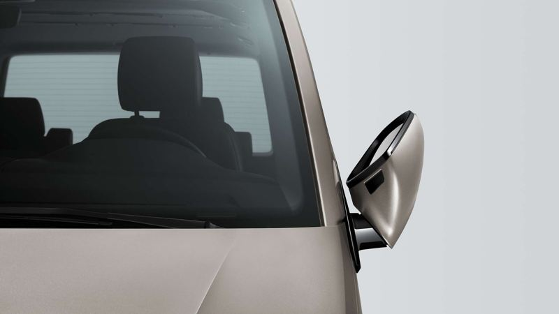 vw Volkswagen grå Multivan 6.1 Highline 7-seter familiebil minivan maxitaxi persontransport elektriske innfellbare sidespeil