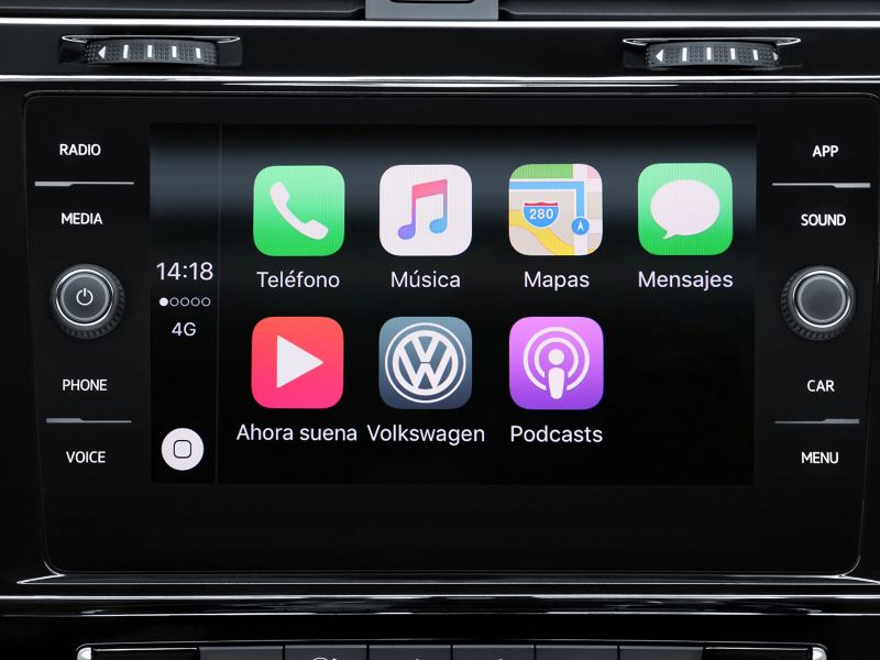 Sistema de entretenimiento Volkswagen App-Connect de Golf 2020 VW