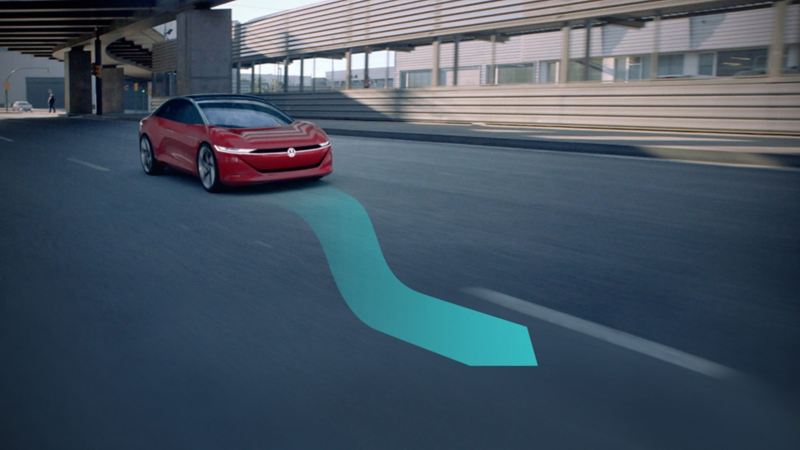 Partially automated driving with a Volkswagen