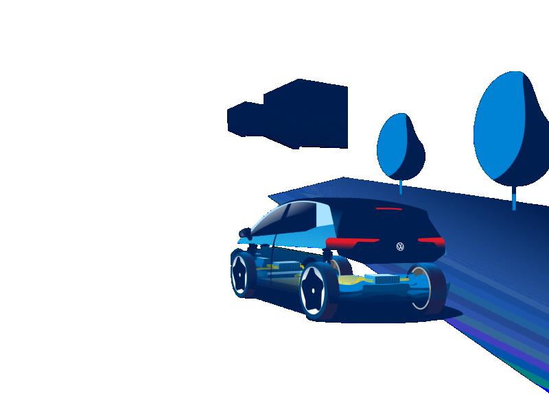 Illustration: Einige technische Bestandteile des VW ID.3