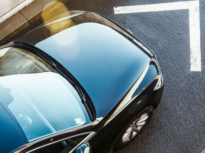 Top view of a Volkswagen vehicle
