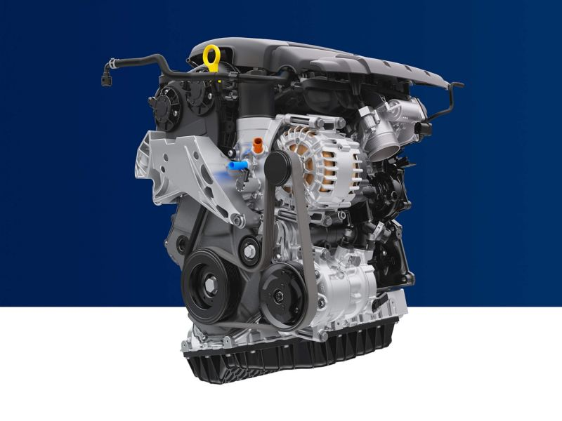 A Volkswagen engine