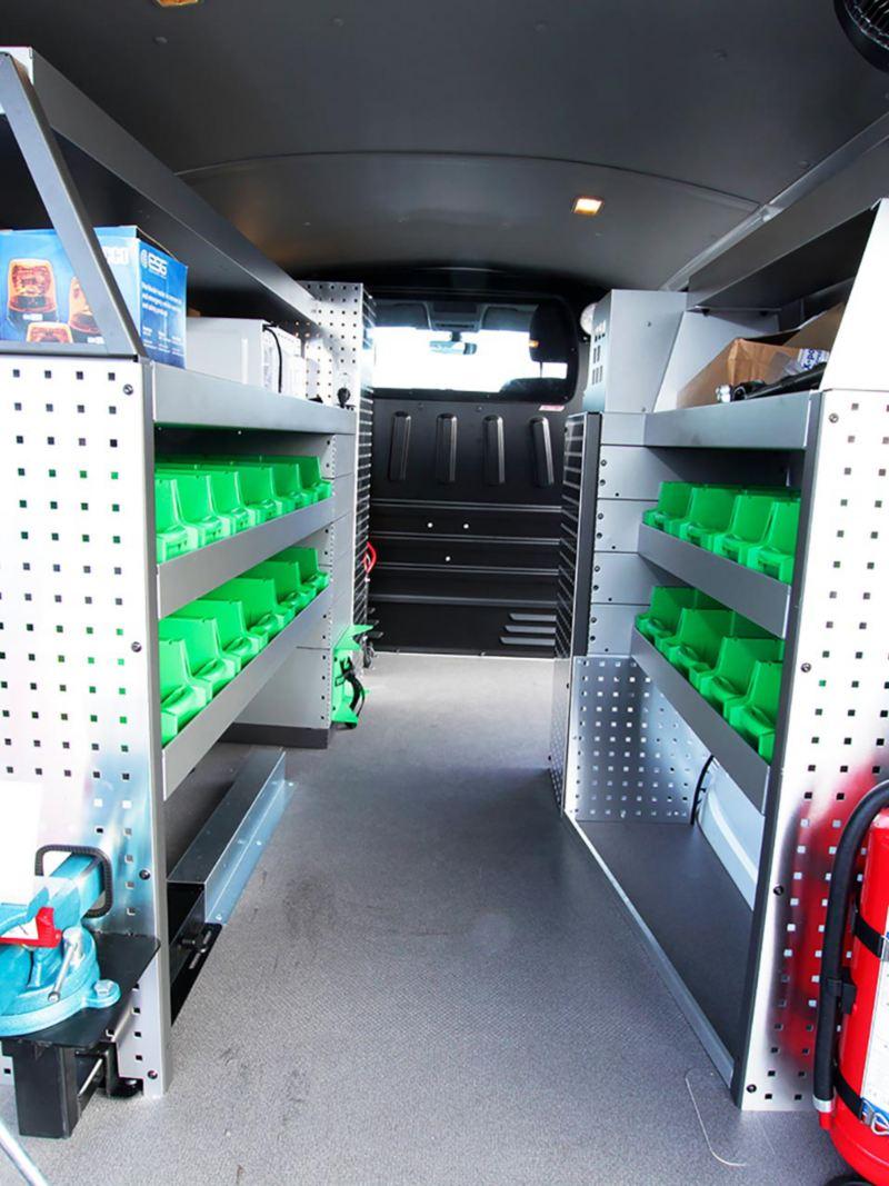 Interiören i Vattenfalls hundra nya Transporters