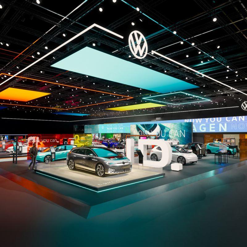 Exhibition floor of the Geneva motor show - ID range in view