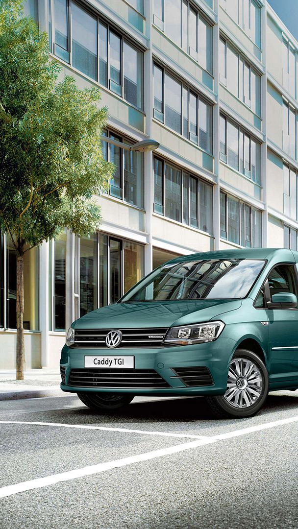 vw Volkswagen miljøvennlig bil familiebil varebil biogass gassdreven Caddy TGI liten 3-seter 7-seter