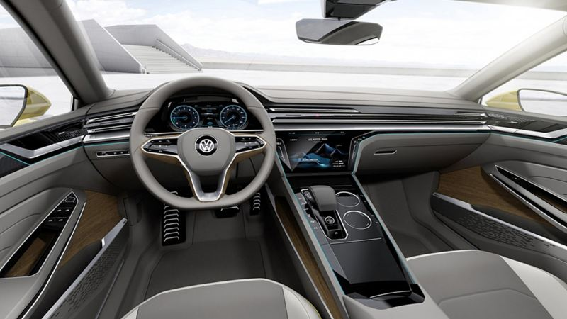 The interior of the Sport Coupe GTE