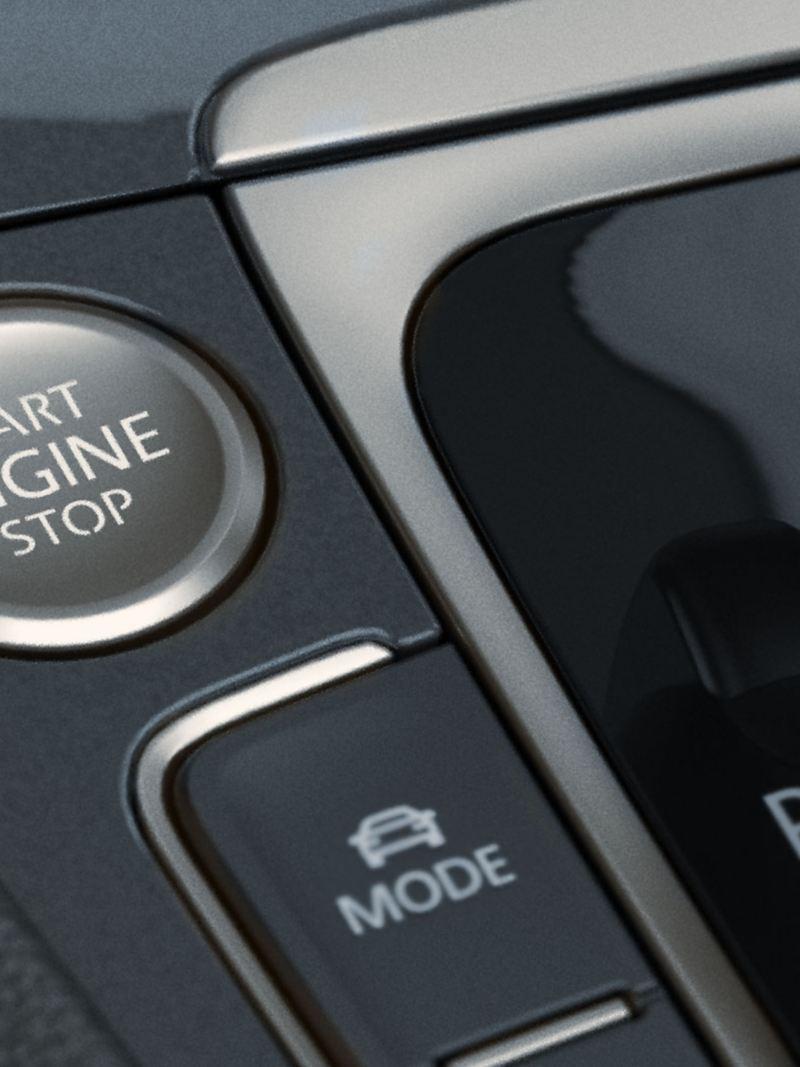 KESSY button inside the Golf SportWagen