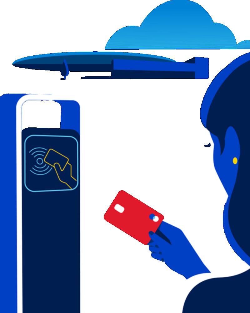 Laddstation där du kan betala med ett laddkort