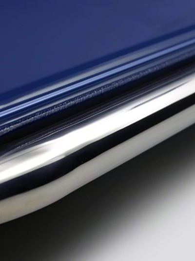 Polished stainless steel side rails