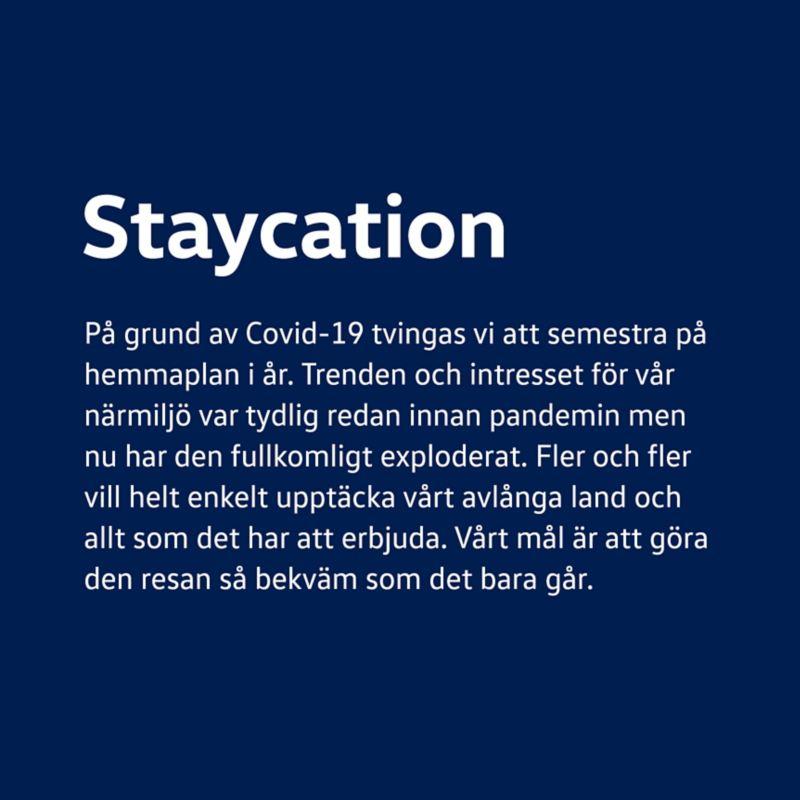 Staycation meddelande