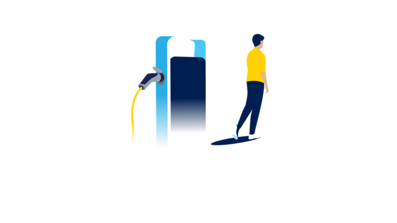 Visualisation of the charging process on a charging station
