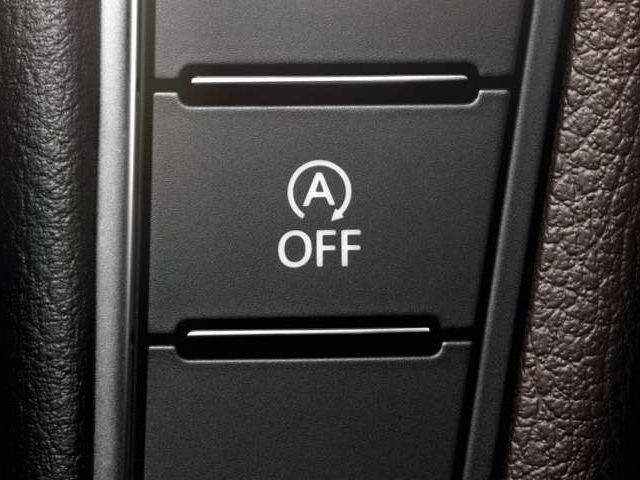 bouton stop-start sur une console