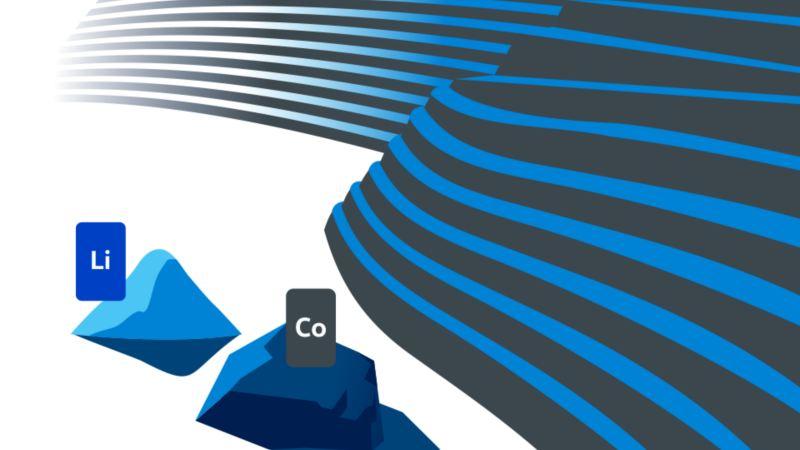 Illustration of lithium and cobalt