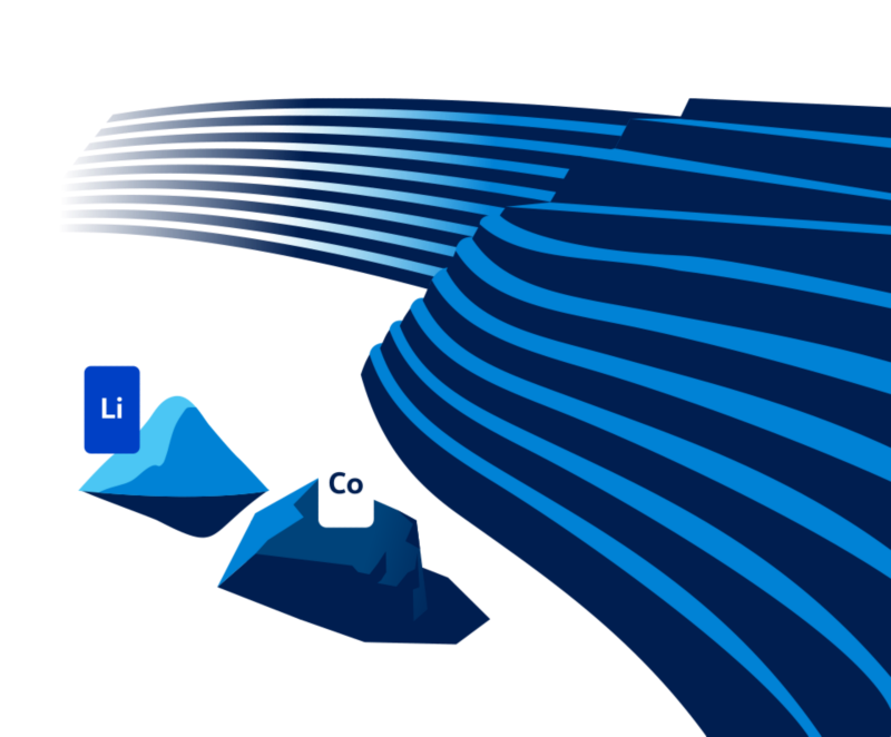 Illustration of lithium and cobalt