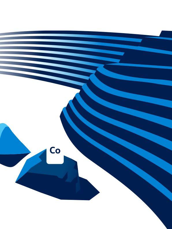 Illustration von Lithium und Kobalt