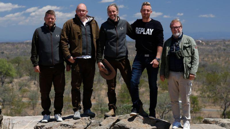 Svenska laget bestod av fr. vänster Bjarne Wahlstrand, Micael Jakobsson, Richard Sjösten och Linus Hedwall.