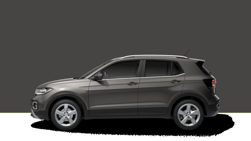 SUV Volkswagen T-Cross versione Advanced laterale