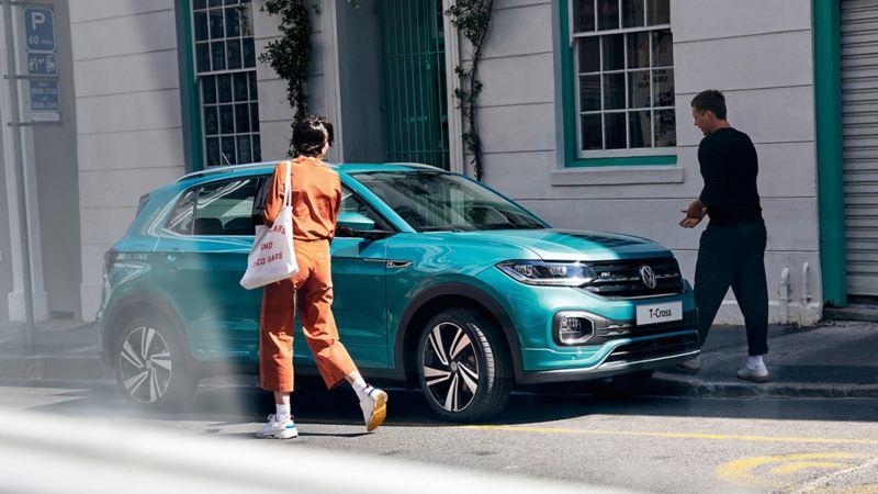 VW T-Cross in the city