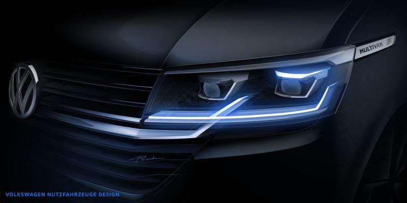 Volkswagen Utilitaires Multivan 6.1 bleu noir phares