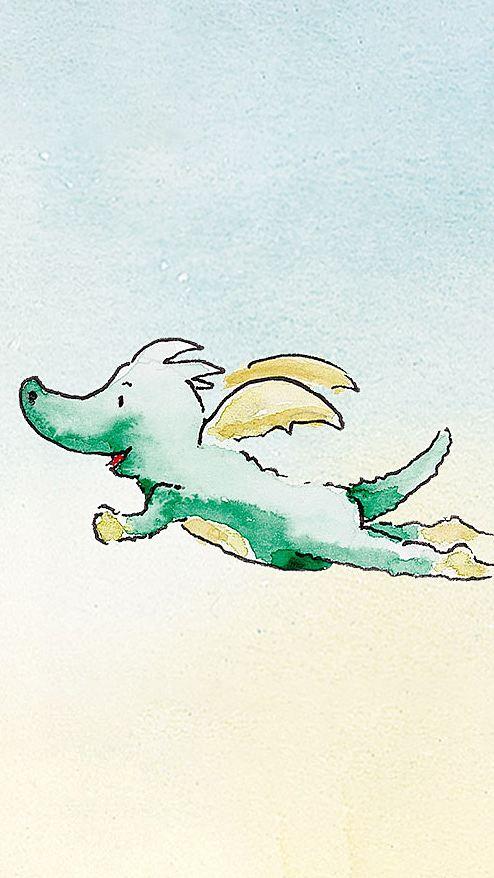 Tabaluga fliegt fröhlich
