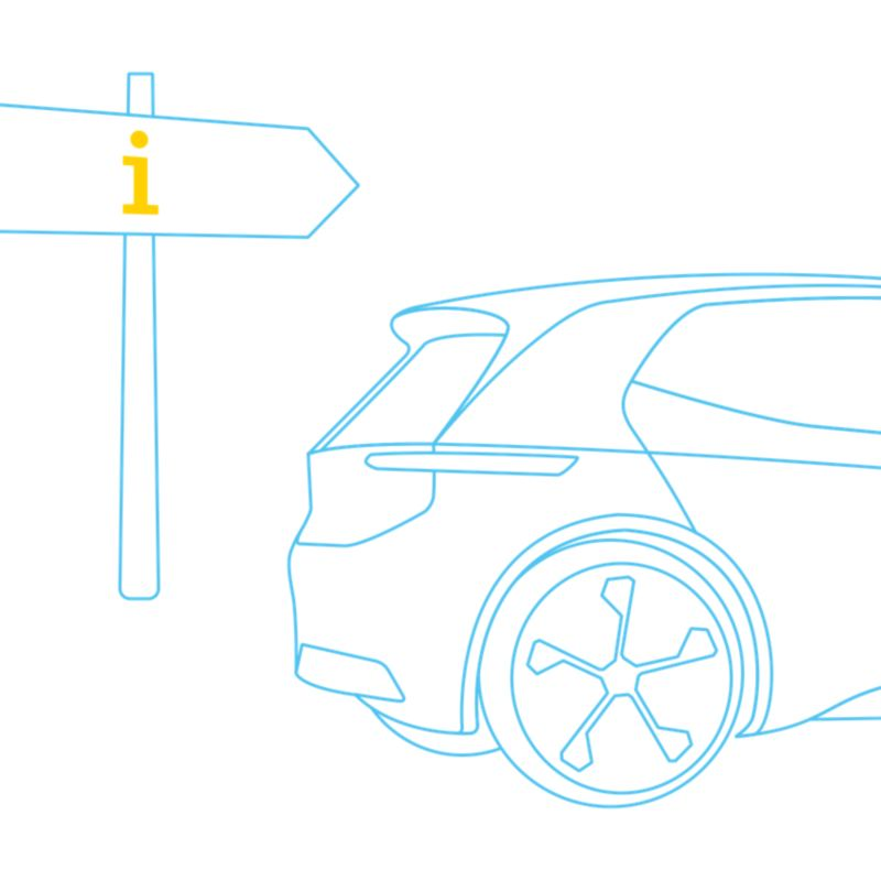 Electric vehicle with guidepost