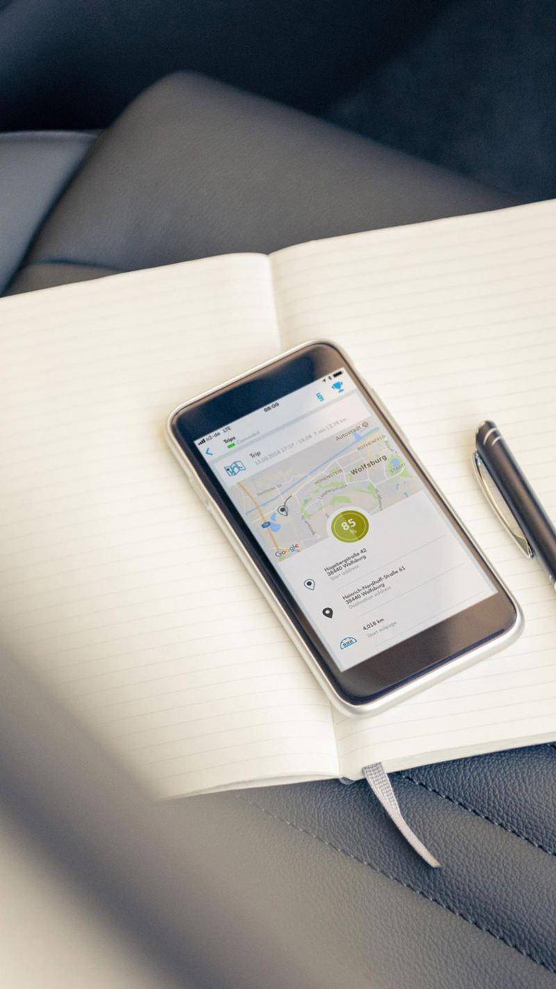 Personvernpolicy Volkswagen VW personvern cookiepolicy smarttelefon bilstol notatblokk