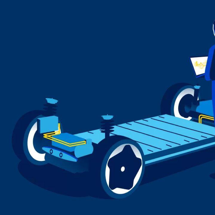 Gráfico de la plataforma MEB de Volkswagen