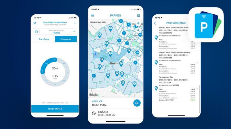 We Park App Screens