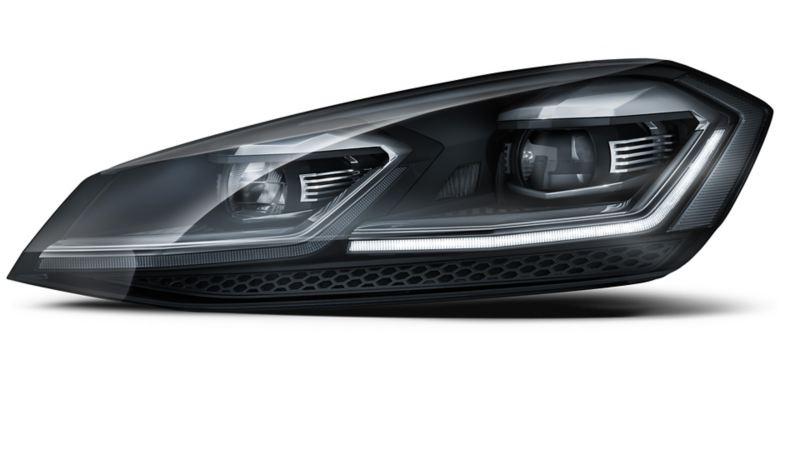 Image of a Volkswagen's left headlight