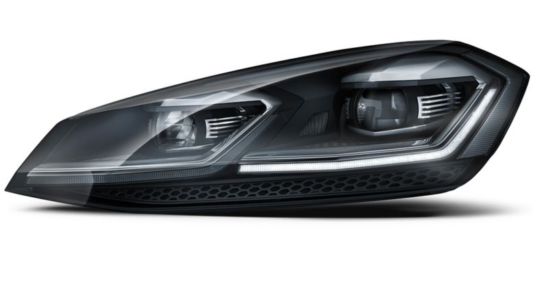 Image of a Volkswagen's left headlight