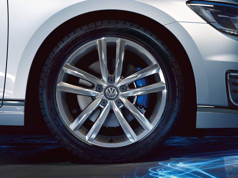 Close up of Volkswagen wheel