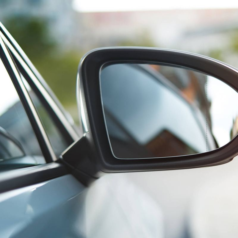 Door mirror on a car