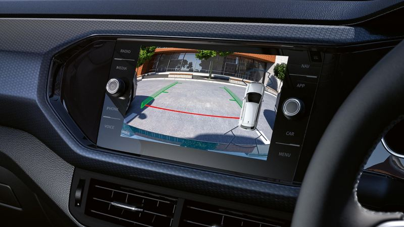 Image of a Rear View Camera on the dashboard