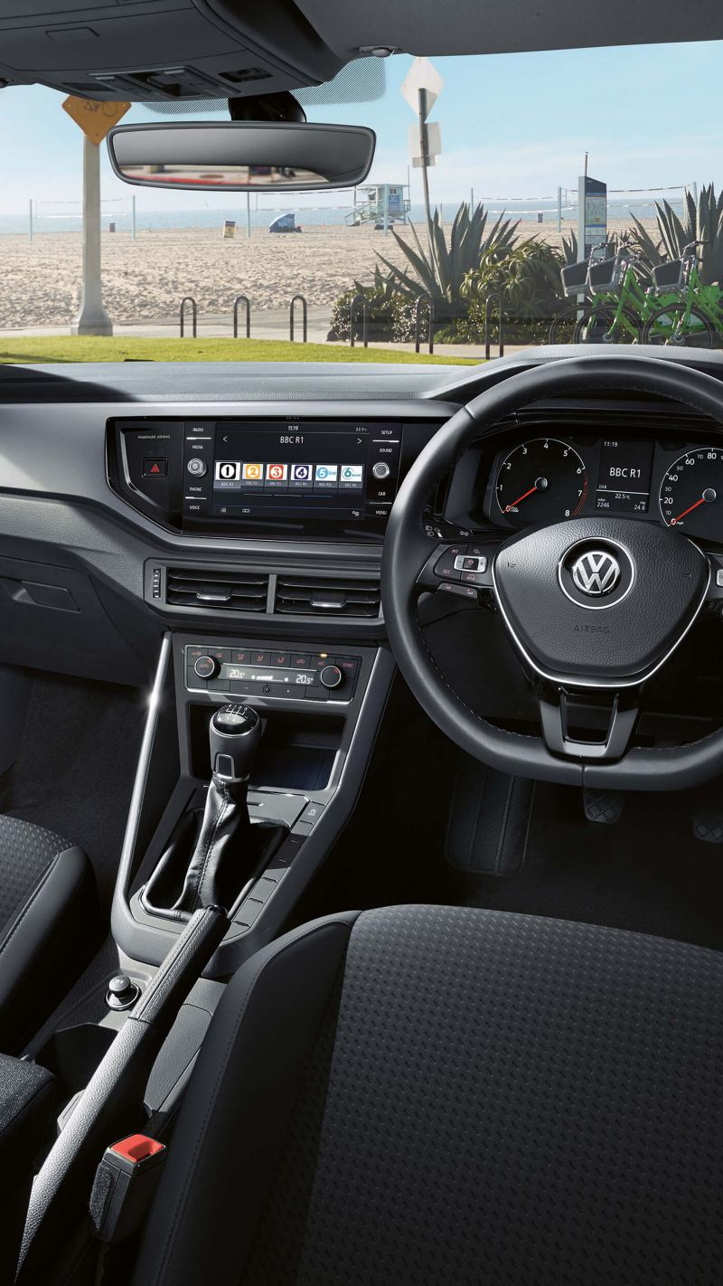 Shot of a Volkswagen dashboard