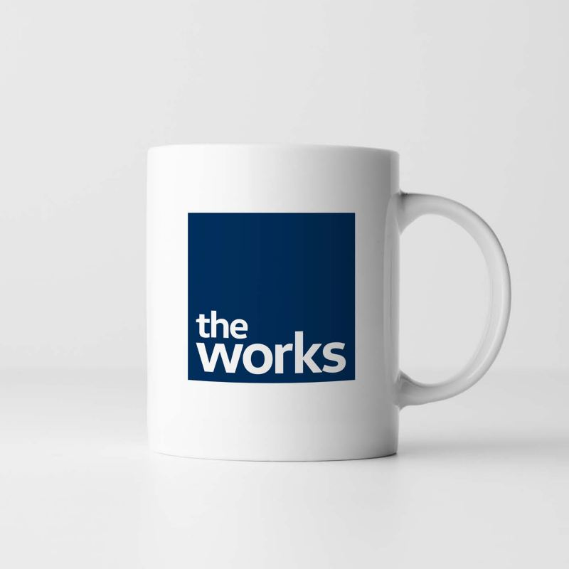 The works mug on a grey background
