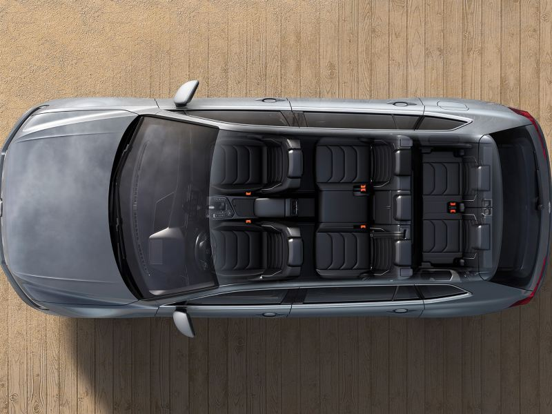 Tiguan AllSpace Seating for space for up to 7 across 3 rows